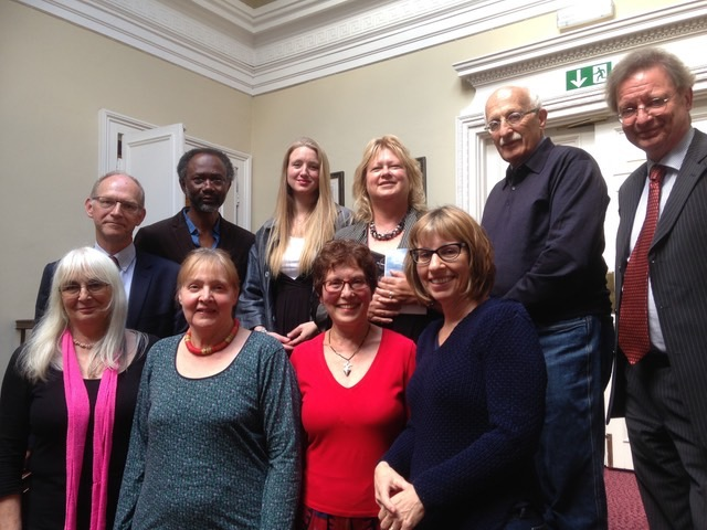 Judges and organisers with commended poets in Open awards